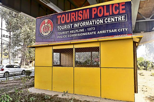 The tourist information centres near the district courts wear a deserted look in Amritsar.