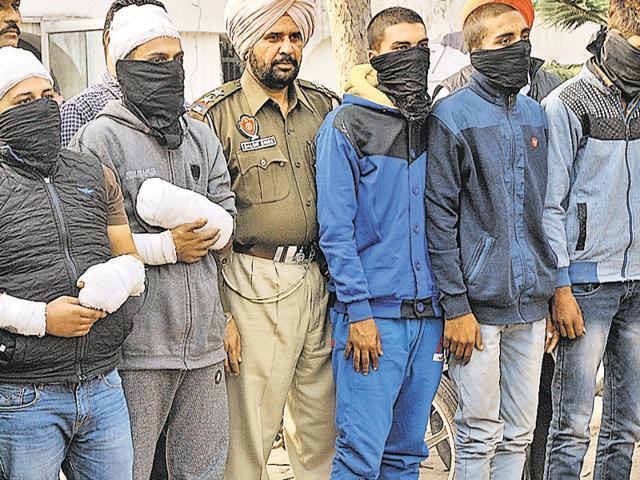 The accused in police custody in Ludhiana..