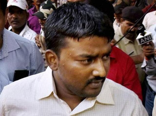 Accused of Aditya murder case Rocky Yadav arrives at court in Gaya on Friday.