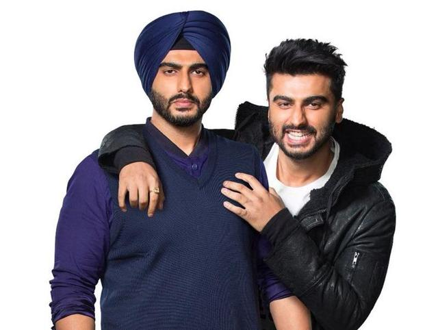Arjun Kapoor shared the first look of Karanveer Singh and Charanveer Singh, the twin characters he will be portraying in the movie.