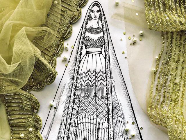 Love Story Lehengas What If Your Wedding Lehenga Narrated Your Love Story Brunch Feature Hindustan Times
