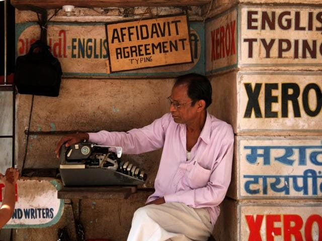 Joseph Pidiath Typists at Picket Road, Mumbai(Photo: Chirodeep Chaudhuri)