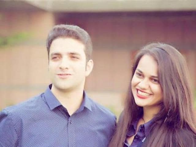 Tina Dabi shared this photo on Facebook with the caption 'In a relationship with Athar Aamir Khan' on November 9.