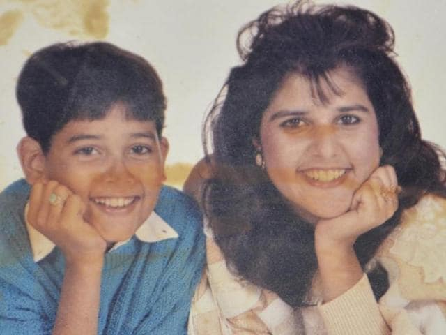 A family photo of Nikki Haley (right) and her brother, Charanjit Singh Randhawa, in the album of her relatives in Amritsar.