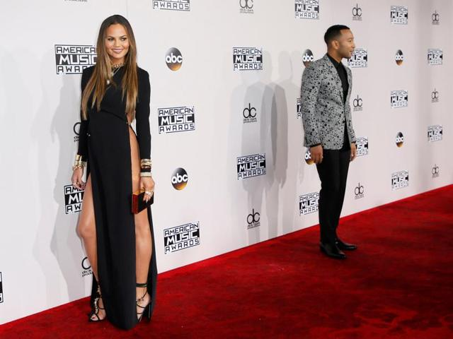 Musician John Legend and model Chrissy Teigen arrive at the 2016 American Music Awards in Los Angeles, California, US on November 20, 2016.