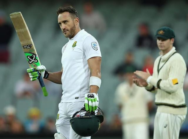 The South Africa captain hit an unbeaten 118 and then caught the Australians off-guard with a surprise declaration at 259 for nine.(AP)