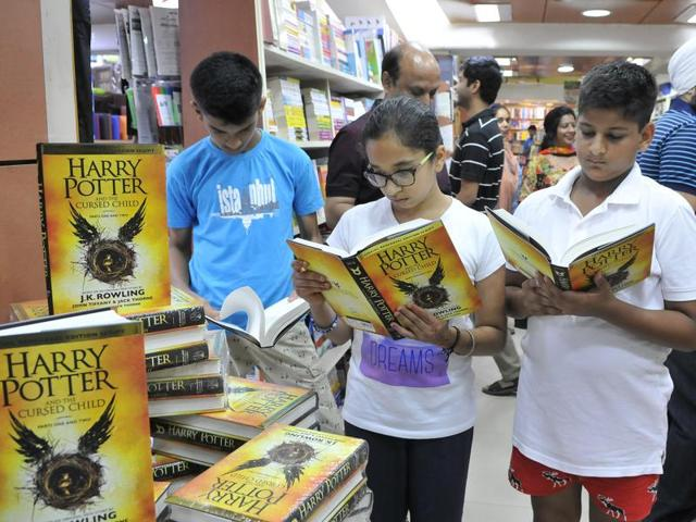 In a bid to add more contemporary literature to school syllabi, the Council of Indian School Certificate Examination -- which conducts ICSE and ISC board examinations -- is introducing popular titles such as the Harry Potter series.(Sunil Ghosh/HT File Photo)