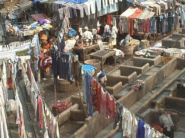 Dhobi Ghat was created by the British administration more than a century ago, as a washing area with a large open space around it meant for cleaning and drying. This open space was systematically taken over by slumlords over the years.
