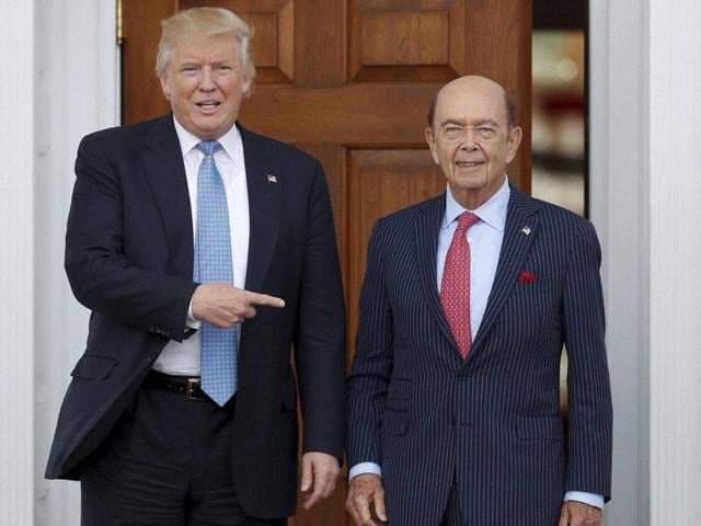 President-elect Donald Trump with investor Wilbur Ross.