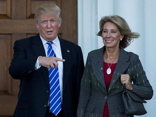 US President-elect Donald Trump announced on Wednesday that he intends to nominate Betsy DeVos, a wealthy Republican campaigner for alternatives to public schools, as his education secretary.
