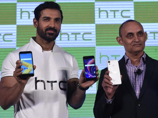 Indian film actor John Abraham, with HCL President HTC south Asia Faisal Siddiqui launched HTC Desire 10 Pro in Indian Market. The Smartphone is attractively priced at Rs. 26, 490 and offers stunning design and flagship-level feature to HTC's widely acclaimed desire family, in New Delhi, India on Thursday.