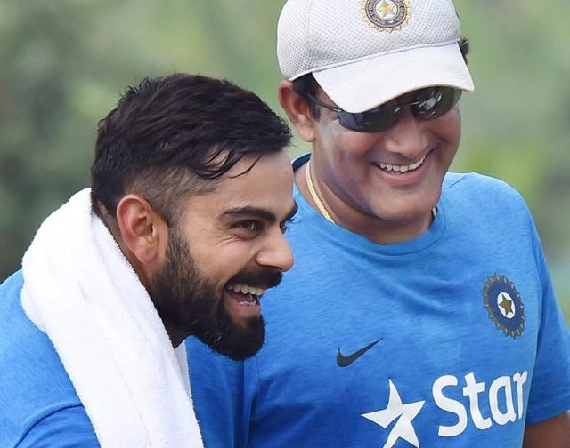"""India coach Anil Kumble and the England team steered clear of the Virat Kohli's """"ball tampering"""" issue.(PTI)"""