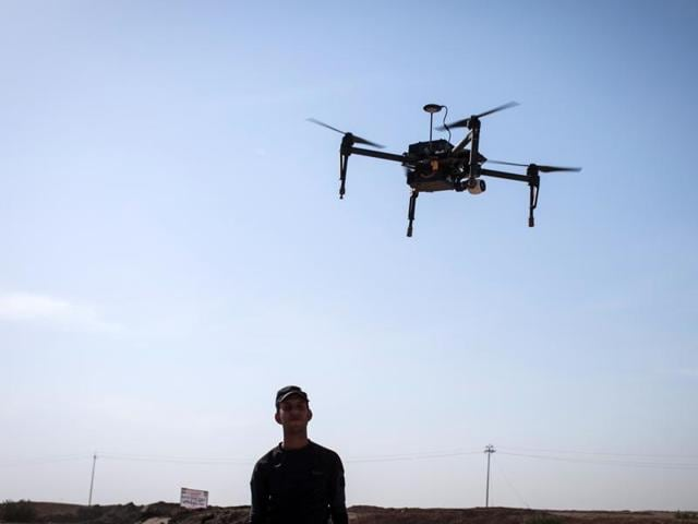 The drone carried two mobile phones, a saw blade and various bolts across the Nyborg Prison's wall and successfully delivered them to the inmate through the cell's window on Tuesday night before disappearing.