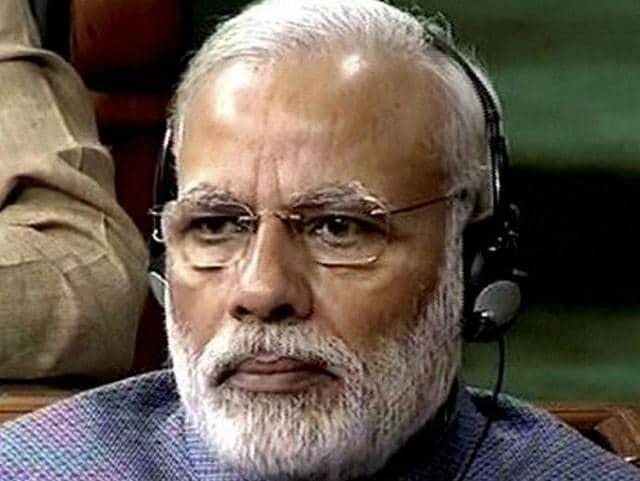 Prime Minister Narendra Modi in the Lok Sabha on Wednesday.