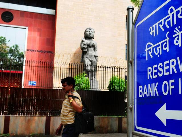 Reserve Bank of India office in Delhi.
