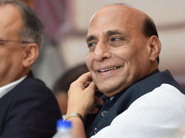Union home minister Rajnath Singh reviewed the security in the country on Wednesday.