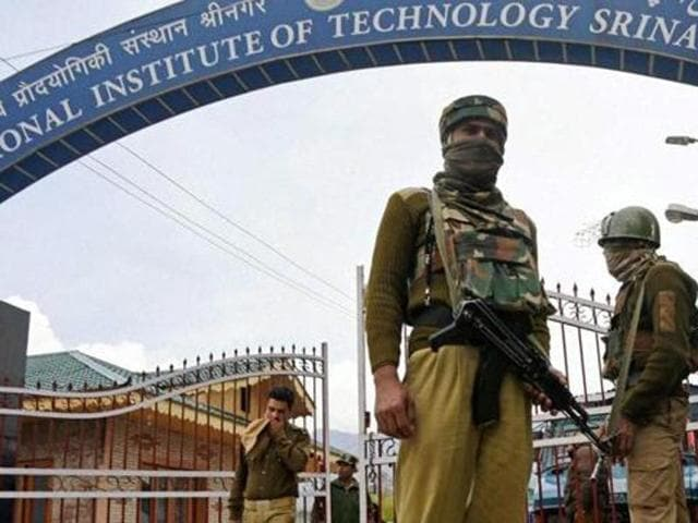 The campus has been locked down since a curfew was clamped across Kashmir following the July 8 killing of top militant Burhan Wani .