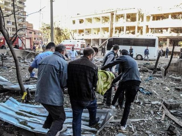 At least two people were killed and 16 others wounded in an explosion Thursday in the car park of a government building in the southern city of Adana.