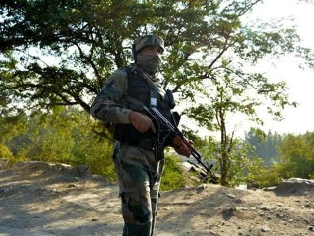An army jawan and two militants were killed in an encounter in Jammu and Kashmir's Bandipora district.