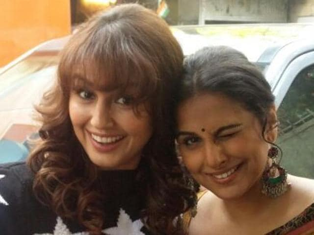 Huma Qureshi and Vidya Balan recently interacted with one another at a studio in Mumbai.