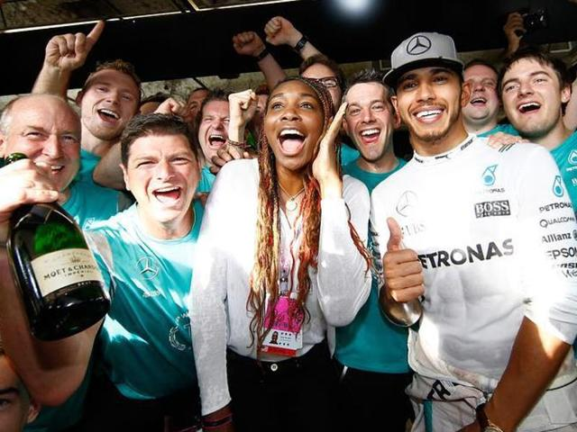 Lewis Hamilton,Formula One,Serena Williams
