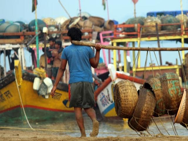 Selling seafood during the demonetisation drive proved fruitful for the Koli community, as they amassed over two crore rupees within ten days.(Hindustan Times)