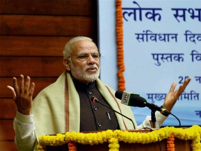 Narendra Modi onFriday asked the people to let their mobile phones serve as a bank branch to deal with corruption and black money.