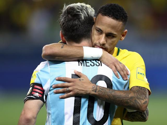 Lionel Messi's friend and Barcelona teammate Neymar led Brazil to a convincing 3-0 victory over Argentina last Thursday.