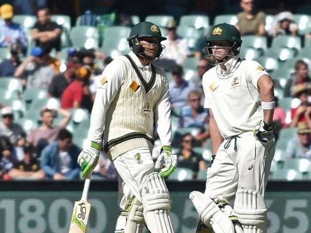 Usman Khawaja scored a century and shared a 137-run stand with Steven Smith.(AFP)