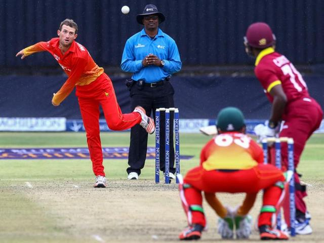 Zimbabwe players had every reason to dance in the rain after edging out West Indies by five runs under the Duckworth-Lewis method in Harare on Friday to qualify for the tri-series final against Sri Lanka.