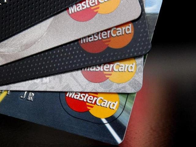 India currently has around 710 million card users, of which around 200 million are MasterCard users.(AP)