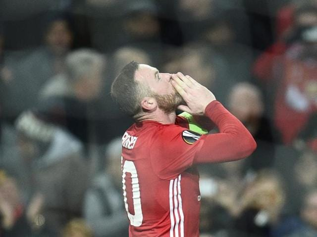 Wayne Rooney became the leading goal-scorer for Manchester United F.C. after they defeated Feyenoord in the Europa League.