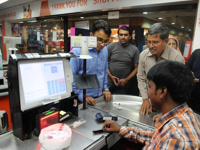 Each outlet had procured five Point of Sale (POS) machines from State Bank of India. Dedicated cash counters, for dispensing money, were set up at each outlet.