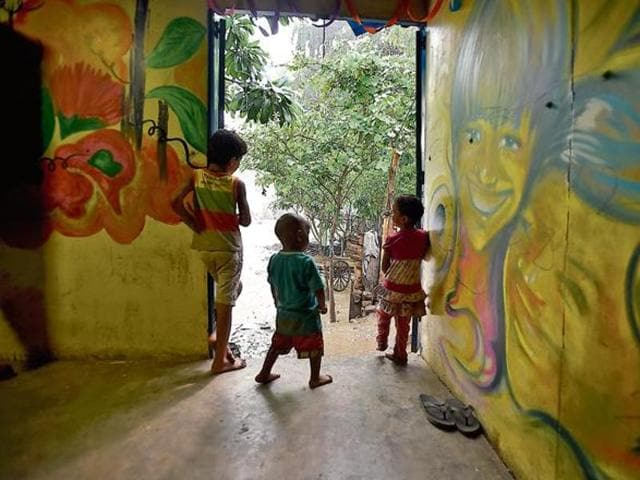 Children at a night shelter.Activists say a child goes missing in India every eight minutes. (Representative image)