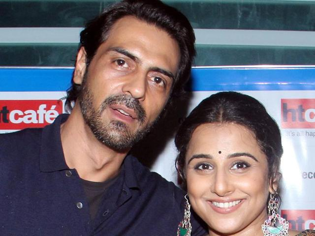 Arjun Rampal and Vidya Balan  visited the HT Cafe office on November 21, to promote their upcoming film Kahaani 2.