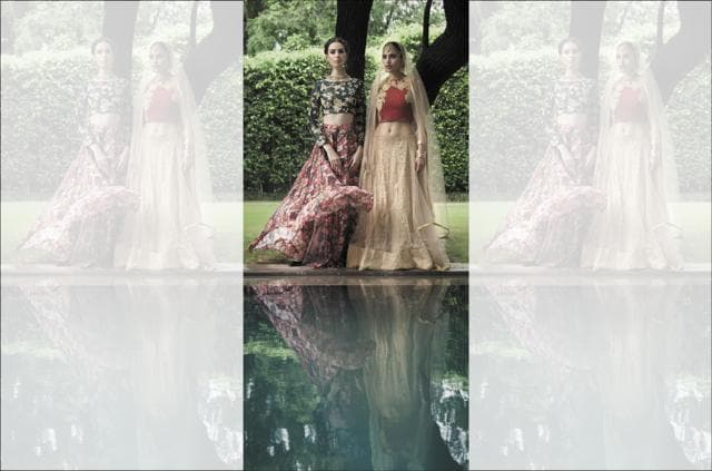 f56abc586e Why choose one when you can have all? Just like a bunch of flowers can come  in all kinds of colours, a floral lehenga can amalgamate the best that ...