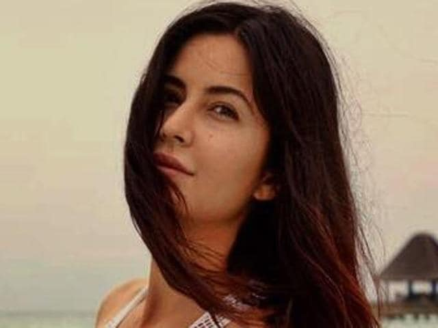 Katrina Kaif posted on her Facebook page, a picture of herself on the clean beach posing for the lens as she nails the perfect physique for a white mesh swimsuit.