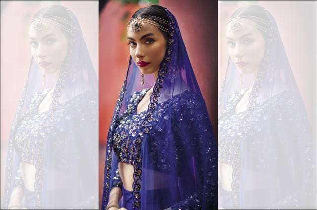 fae508b9f3 It's interesting that blue is hardly ever considered for the colour of a  wedding trousseau, even though it symbolises trust, loyalty and stability  ...