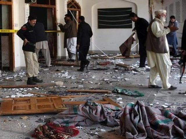 Militants have attacked a mosque at an army facility in northwest Pakistan, triggering a shootout.