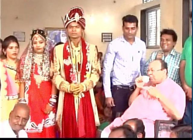 The family decided to give up plans for a grand wedding ceremony and served the guests with 'chai and paani'