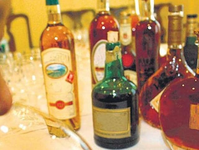 Ex-Bihar minister's son Lakhan Nishad was arrested with 12 bottles of branded liquor, in Patna on Friday.