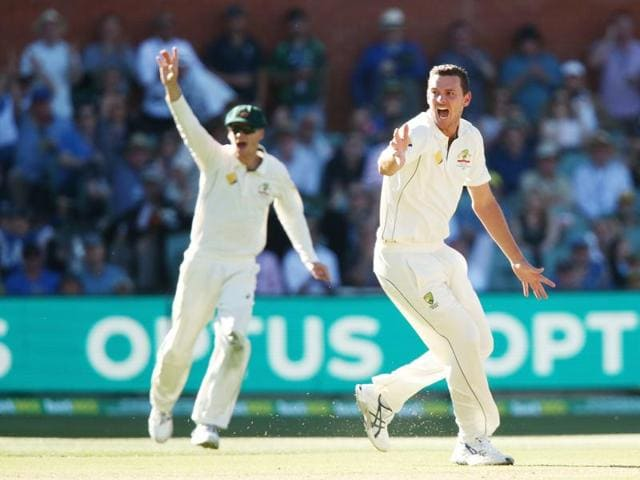 Josh Hazlewood removed Hashim Amla for the fifth time in five innings.