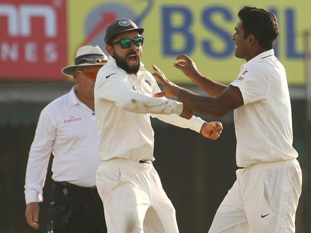 Jayant Yadav got the key wicket of Jonny Bairstow towards the fag end of the day.
