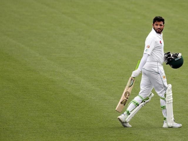 Pakistan's Azhar Ali is dismissed for 1 run  in Hamilton Test vs New Zealand