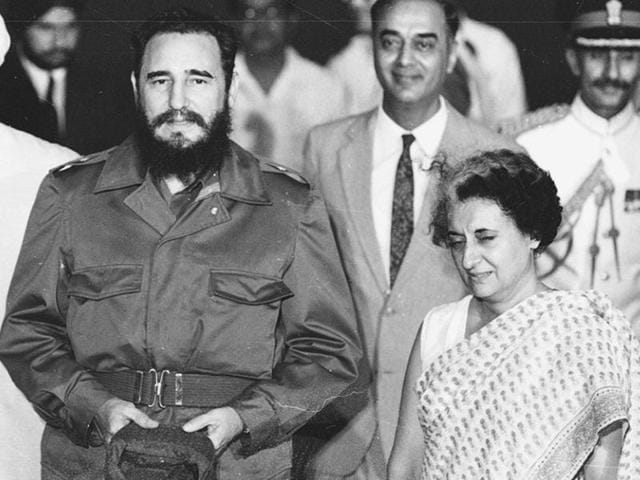 Fidel Castro was the star of 1983 summit of the Non-Aligned Movement (NAM) which took place in India.