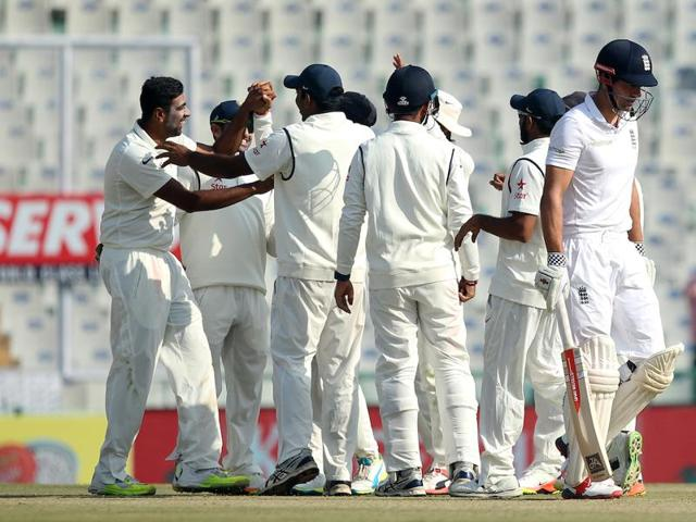 Ravichandran Ashwin and India's bowlers had another fine day in the Mohali Test.