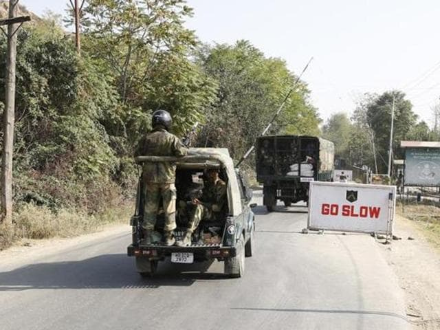 A Border Security Force convoy was ambushed by militants in Jammu and Kashmir's Kupwara district on Saturday.