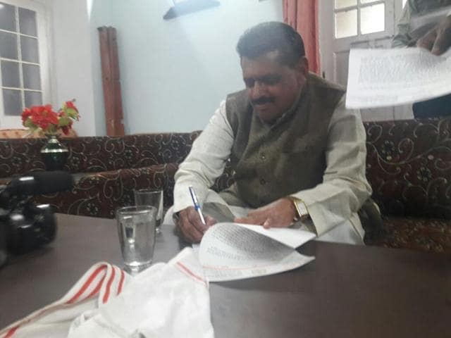 BJP MLA RD Prajapati has alleged the administrative officials didn't listen to him because he was a Dalit.