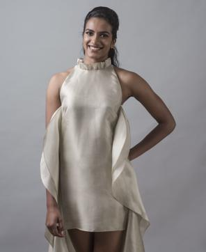 PVSindhu wears a suit by Hemant & Nandita and a shirt by H&M.