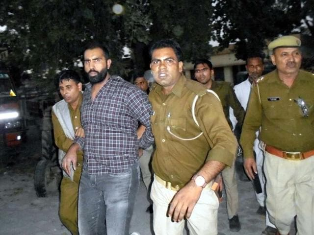Palwinder Singh was arrested in Shamli district on Sunday.(Pic provided by UP police)
